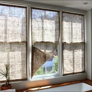 ONE DAY ONLY- MAKE OFFER Burlap Shades